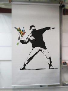 Banksy Printed Roller Blinds