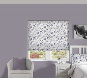 Blossom Lilac Roman Blind