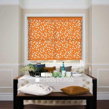 Rainsford Orange Roller blind