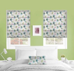 Watercolour Forest Roman Blind