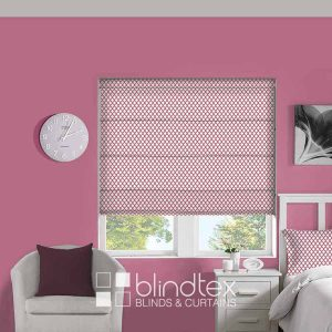 Crisscross-Bubblegum-Roman-Blinds