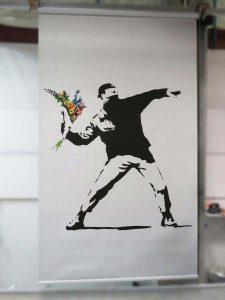 Banksy Flower Man