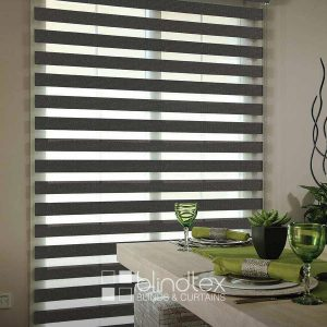 Saloni Charcoal Duplex Blinds